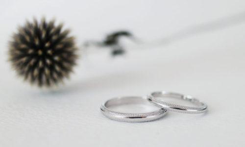 pt900 ミル打ち入りの結婚指輪