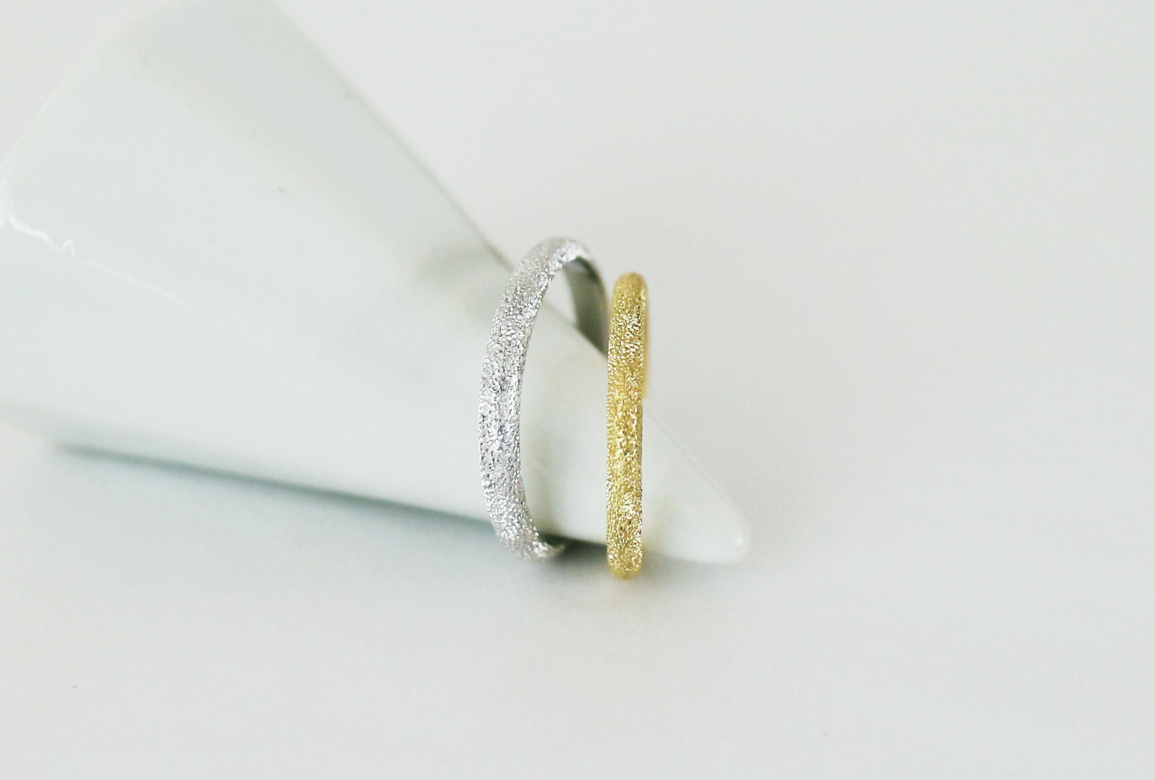 pt900/k18 スターダスト結婚指輪