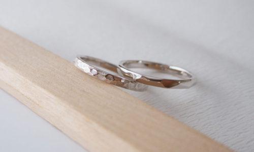 pt900ワックスから制作する結婚指輪