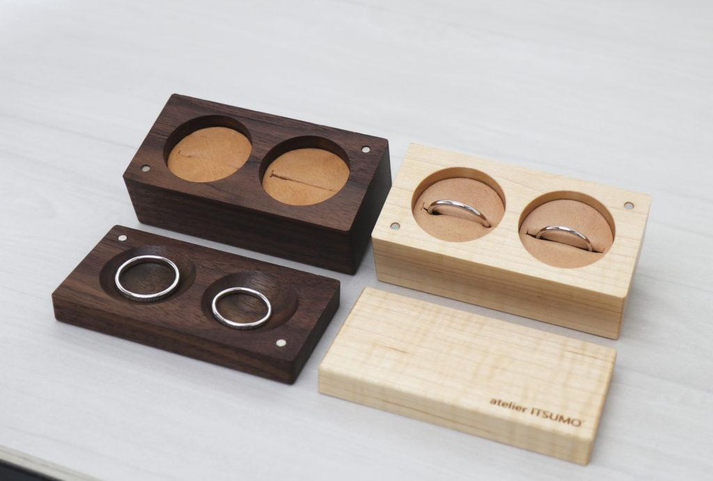 木製のオリジナルマリッジリングケース