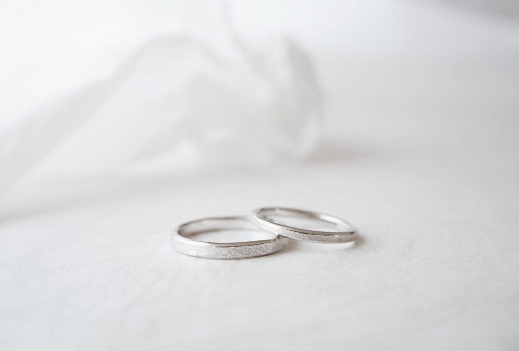 荒らしタガネの結婚指輪のサンプル