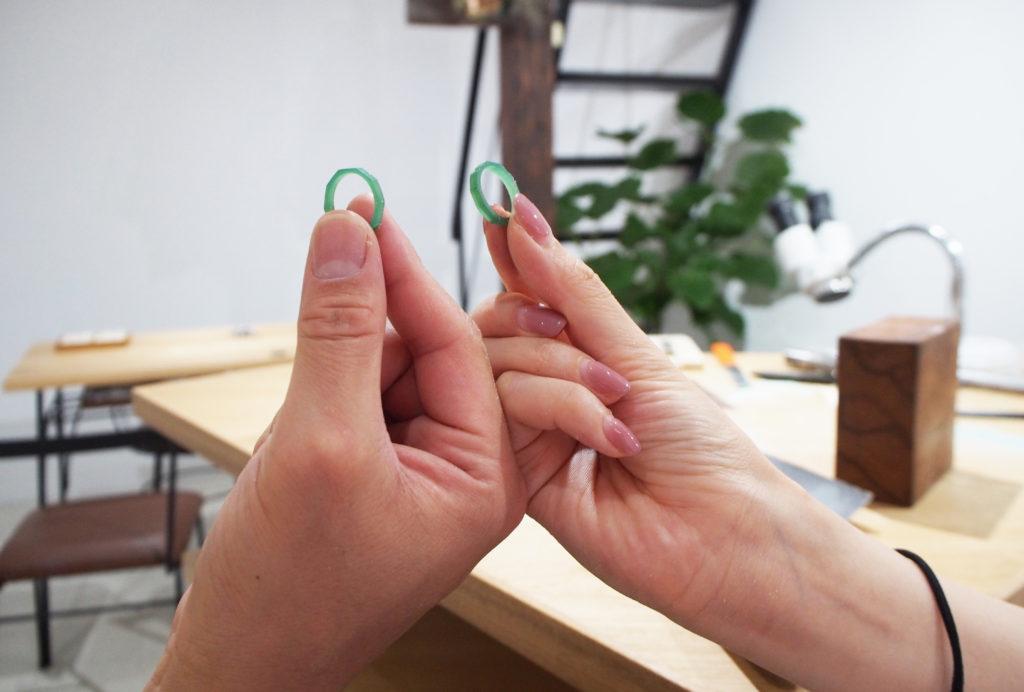 ワックスから制作する結婚指輪が出来上がり!