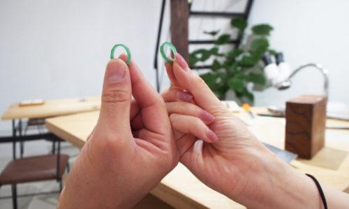 ワックスから制作する結婚指輪の原型出来上がり!