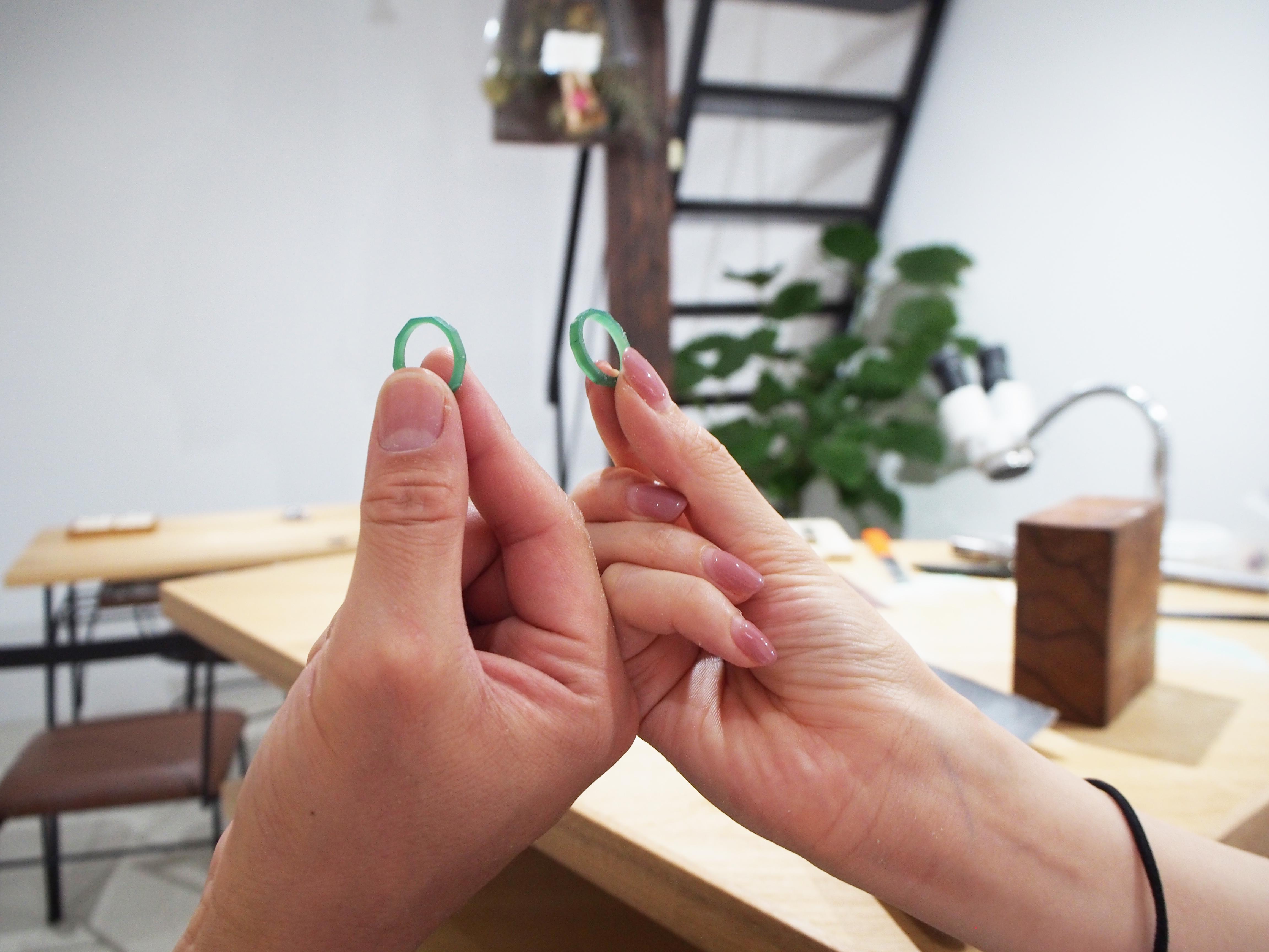結婚指輪の原型が出来上がり!