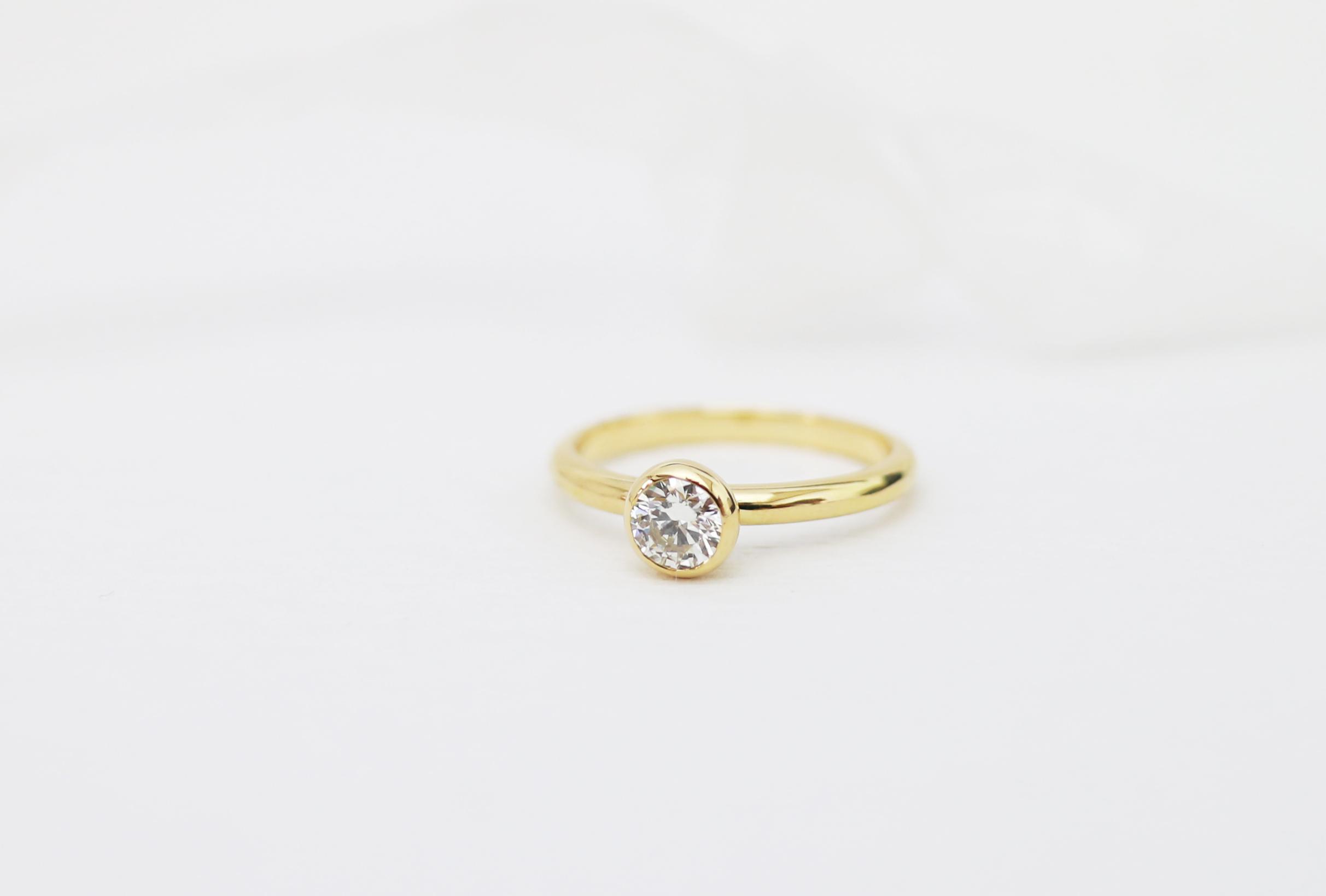 K18イエローゴールドの婚約指輪