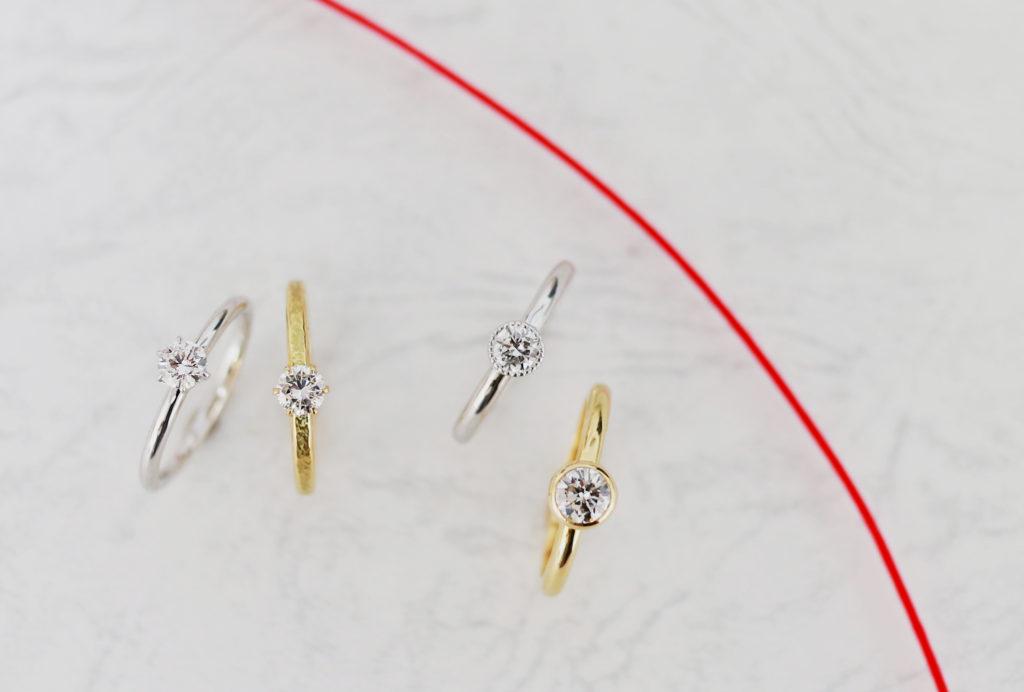 婚約指輪色々