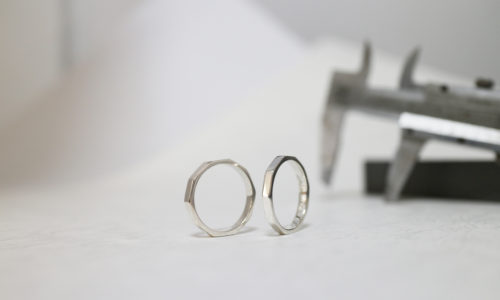 ワックスから制作した結婚指輪