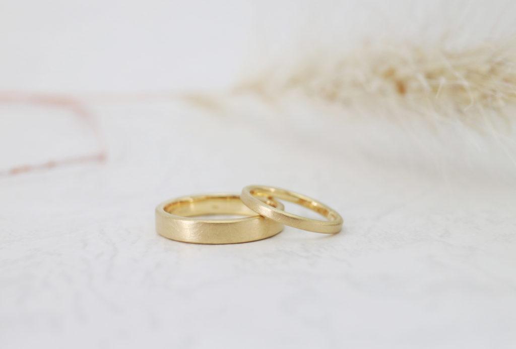 ふたりで手作りした結婚指