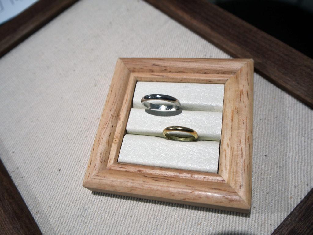 お客様が手作りされた結婚指輪