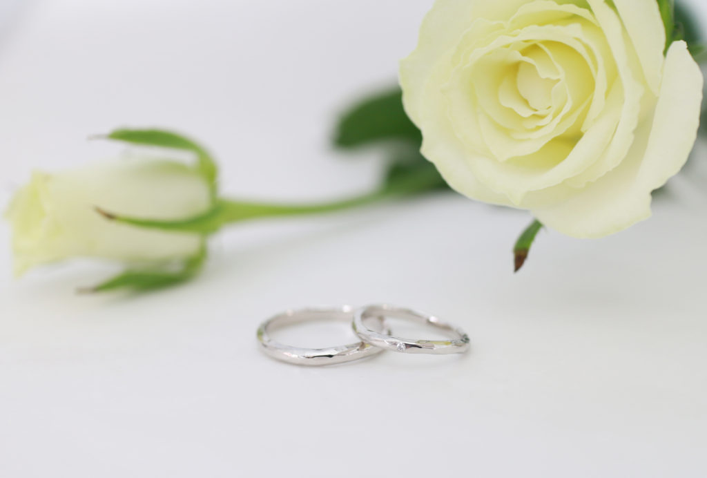 pt900 シンプルな手作りされた結婚指輪
