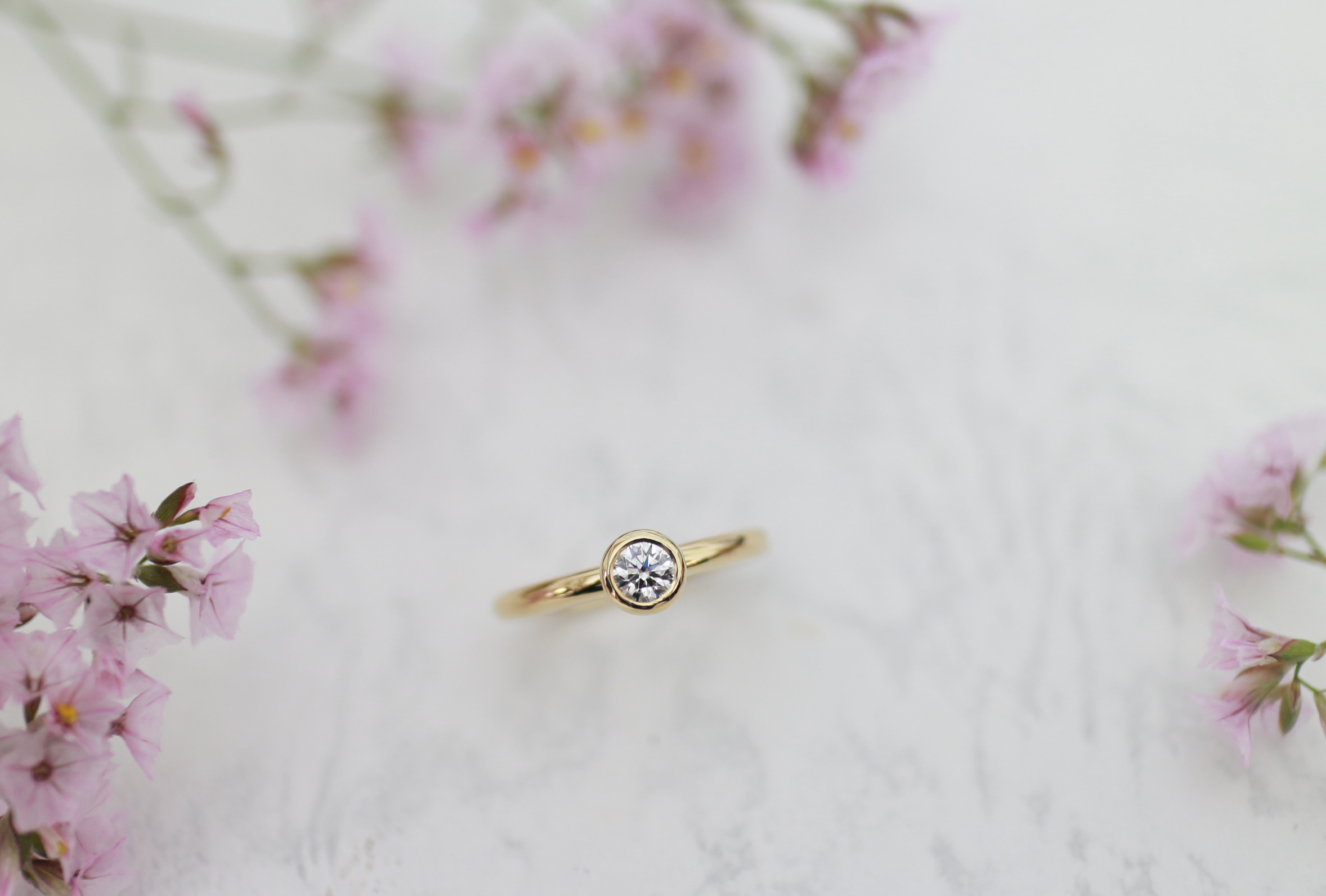ふたりで手作りした婚約指輪