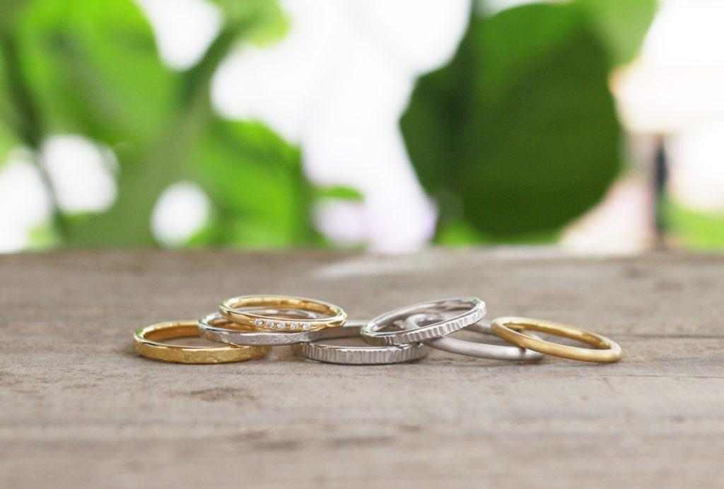 ふたりで手作りする婚約指輪のリング部分例