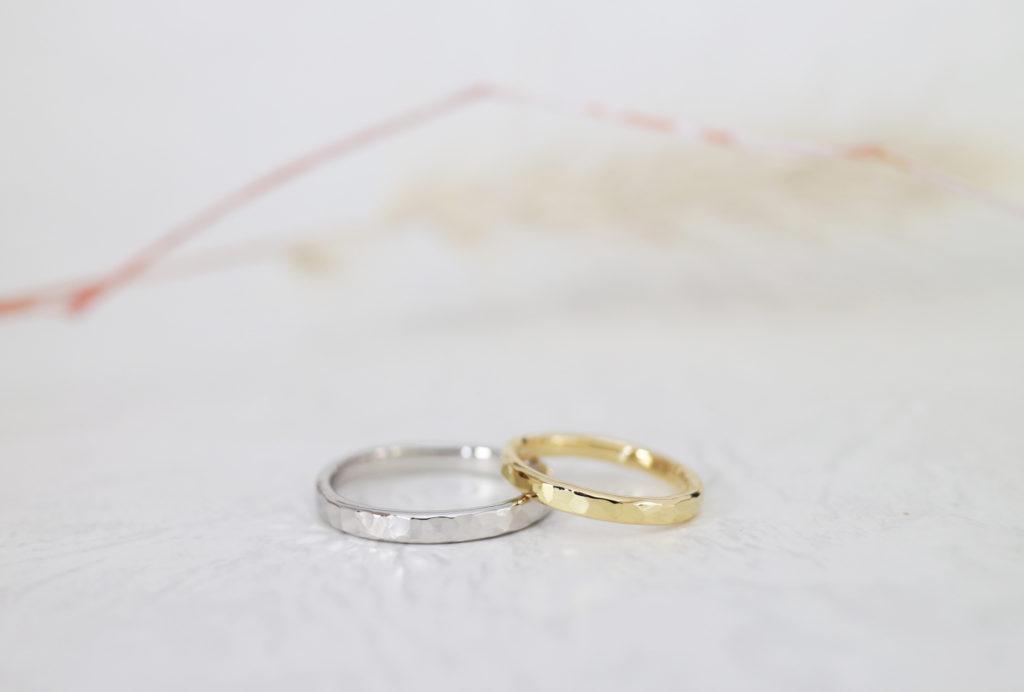 鎚目の手作り結婚指輪