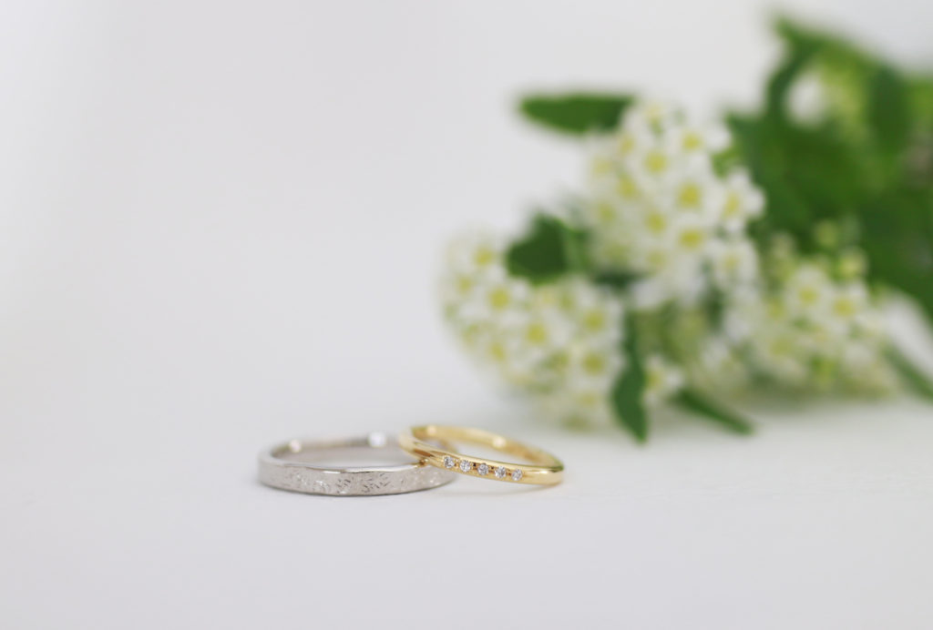 デザイン違いの手作り結婚指輪