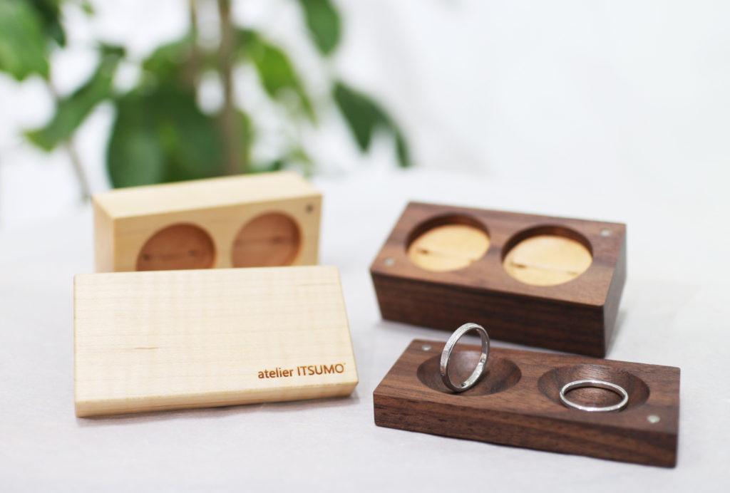 結婚指輪を収めるリングケース