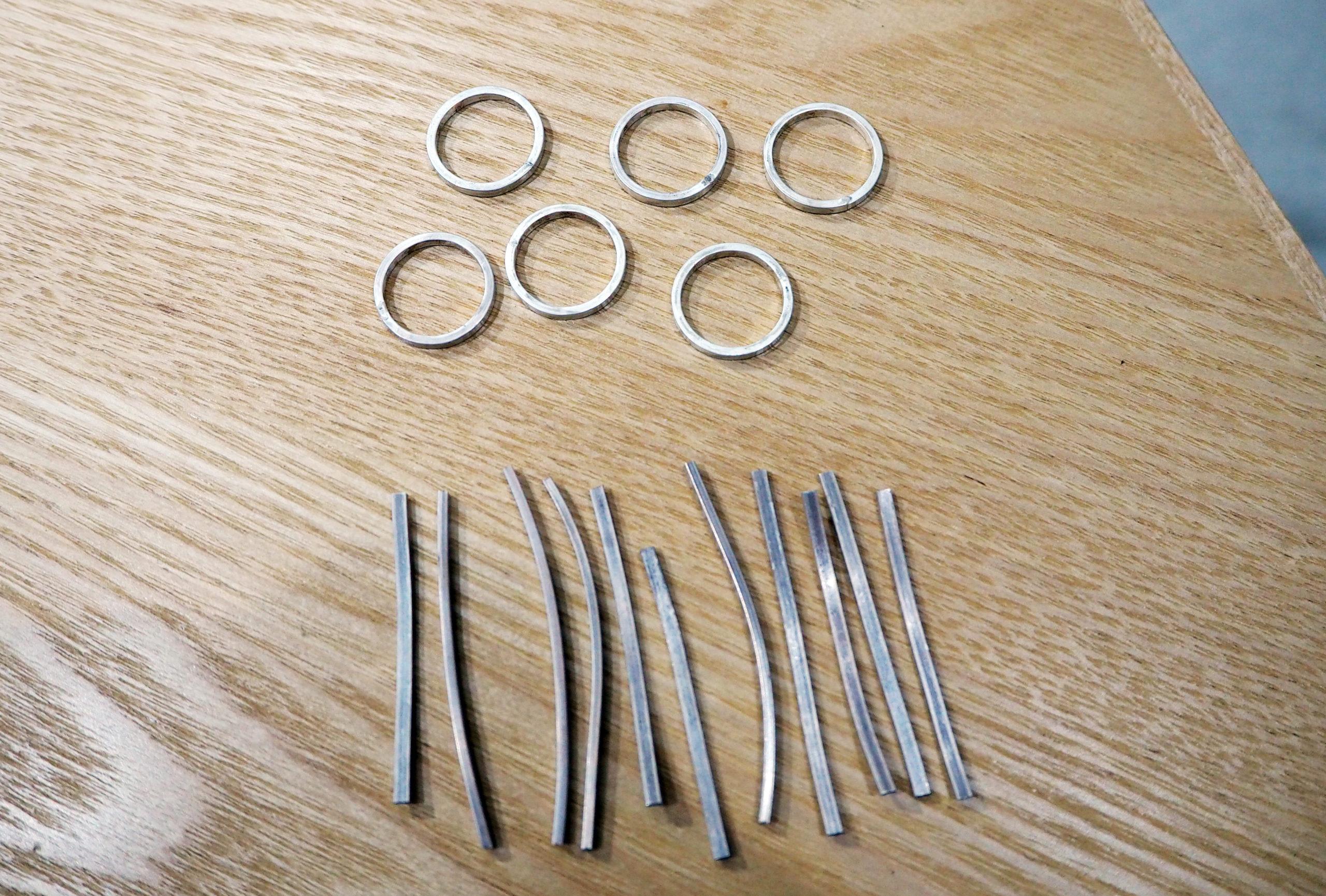 結婚指輪を手作りする前に練習用で使用するシルバー材