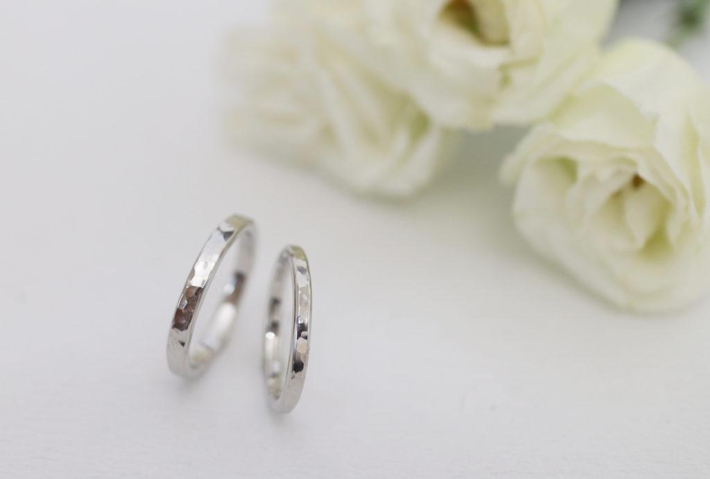 鎚目のふたりで手作りした結婚指輪