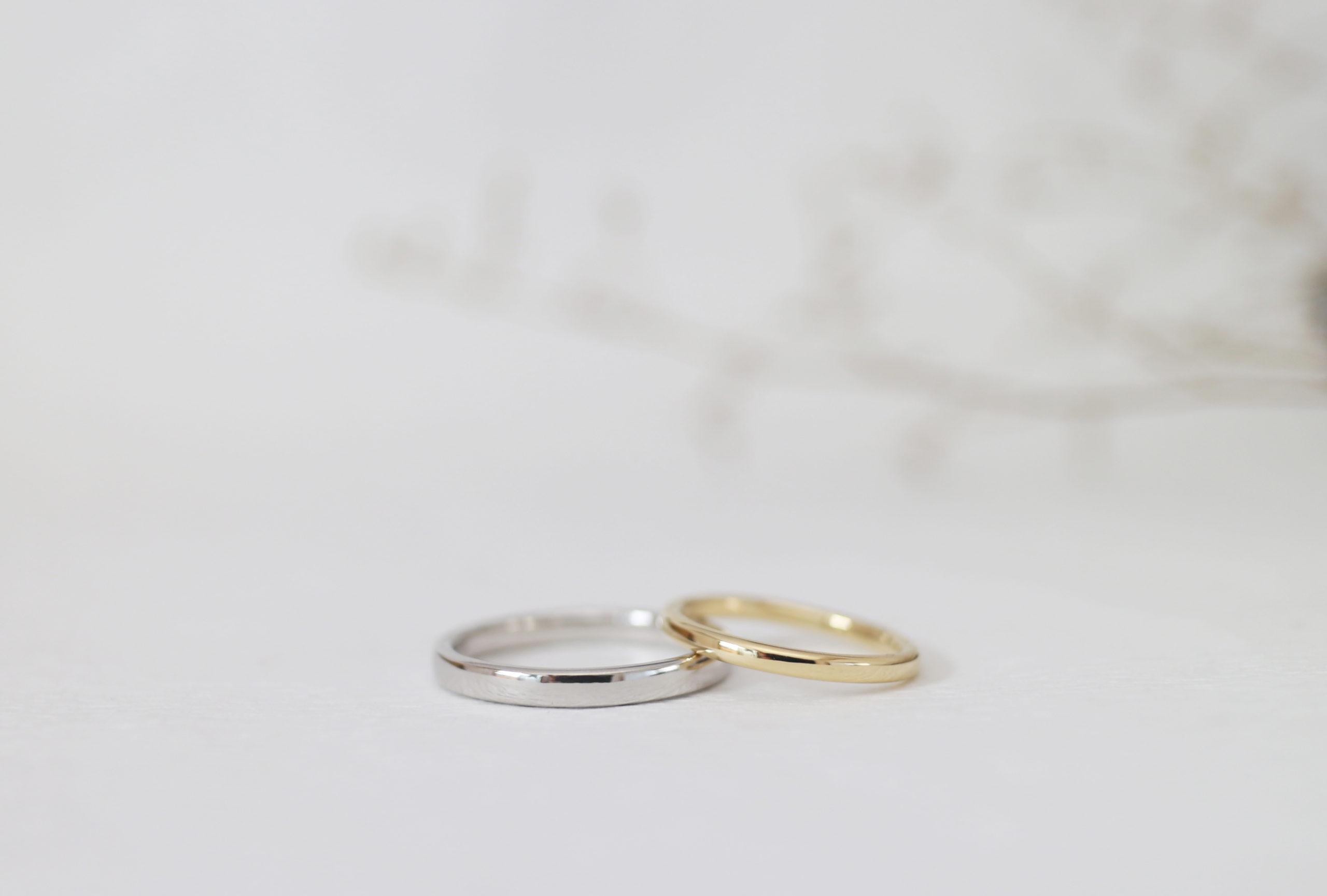 ふたりで手作りしたピカピカの結婚指輪