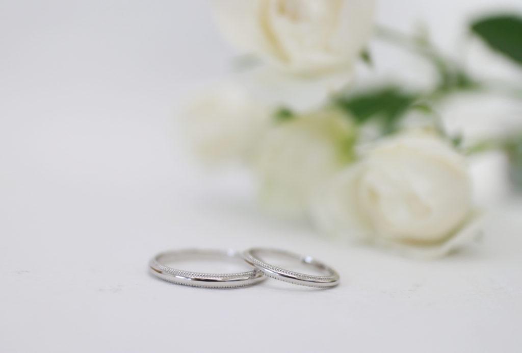 ミル打ちの手作り結婚指輪