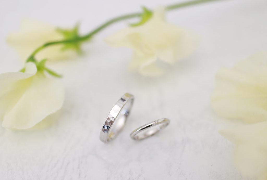 違うデザインの結婚指輪を手作り