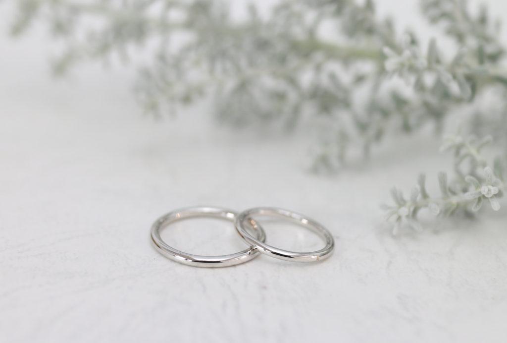 丸い結婚指輪を手作り