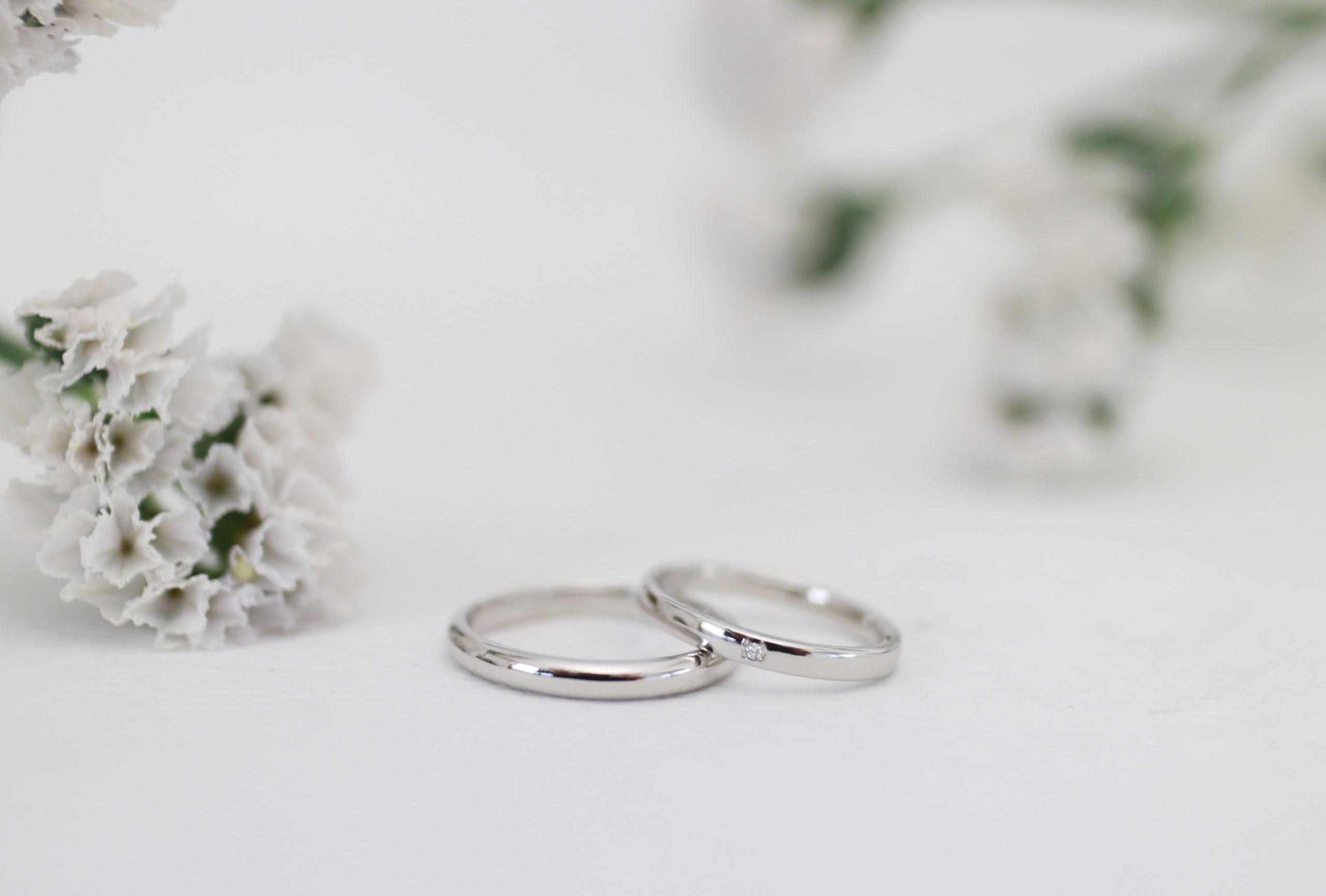 柔らかな雰囲気の手作り結婚指輪