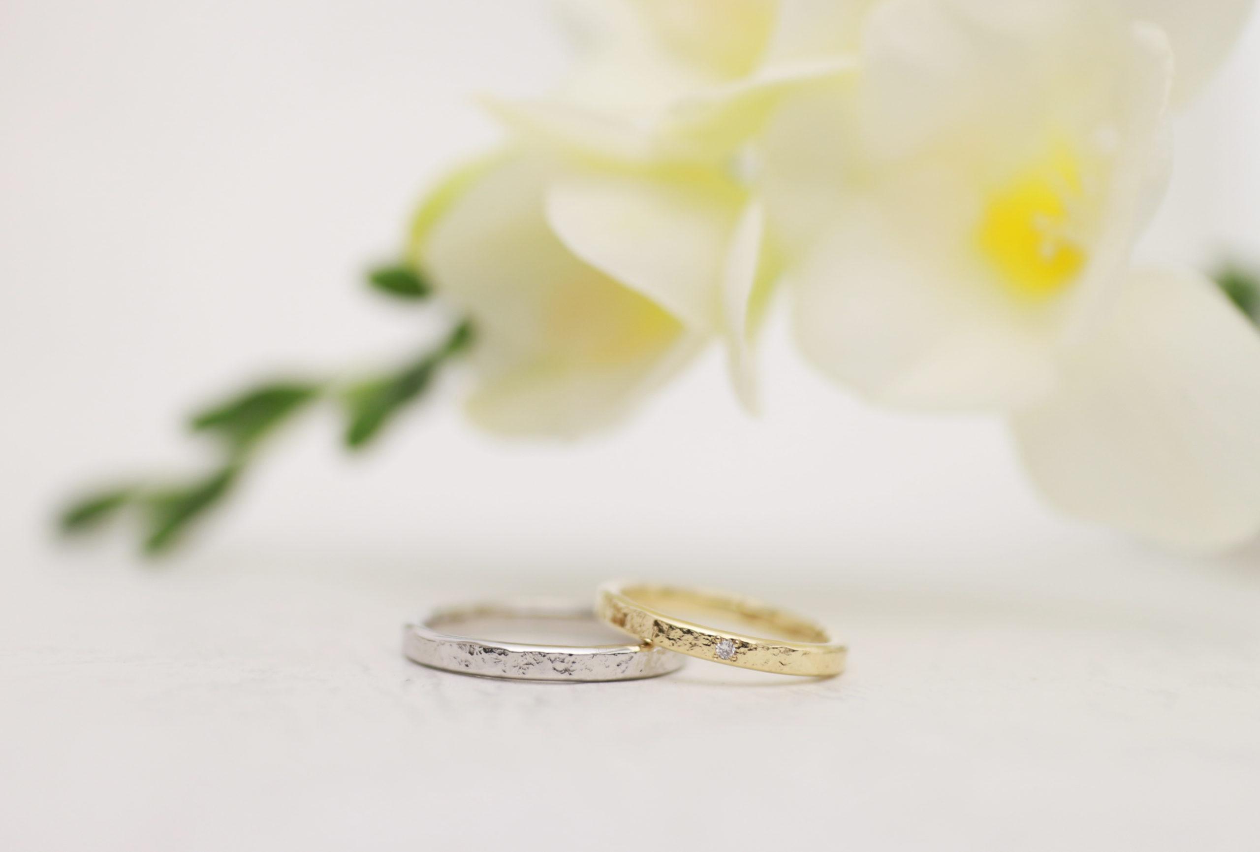 ダイヤモンドプロポーズ後の結婚指輪制作