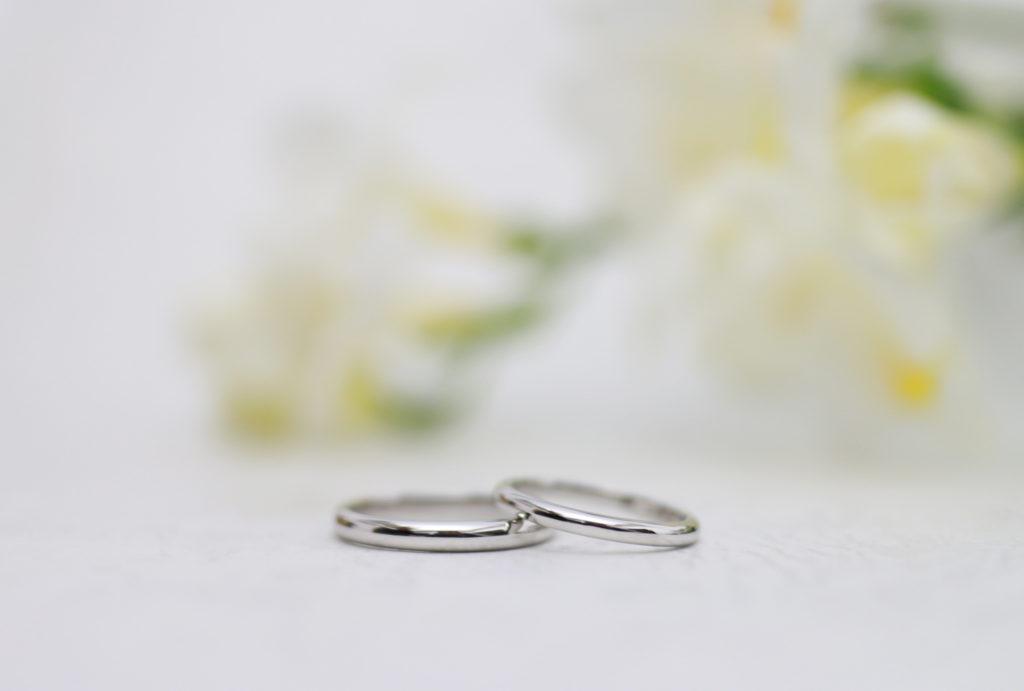 ピカピカに磨いた手作り結婚指輪