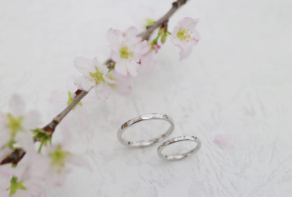 同じ工程で作っても雰囲気が違う手作り結婚指輪