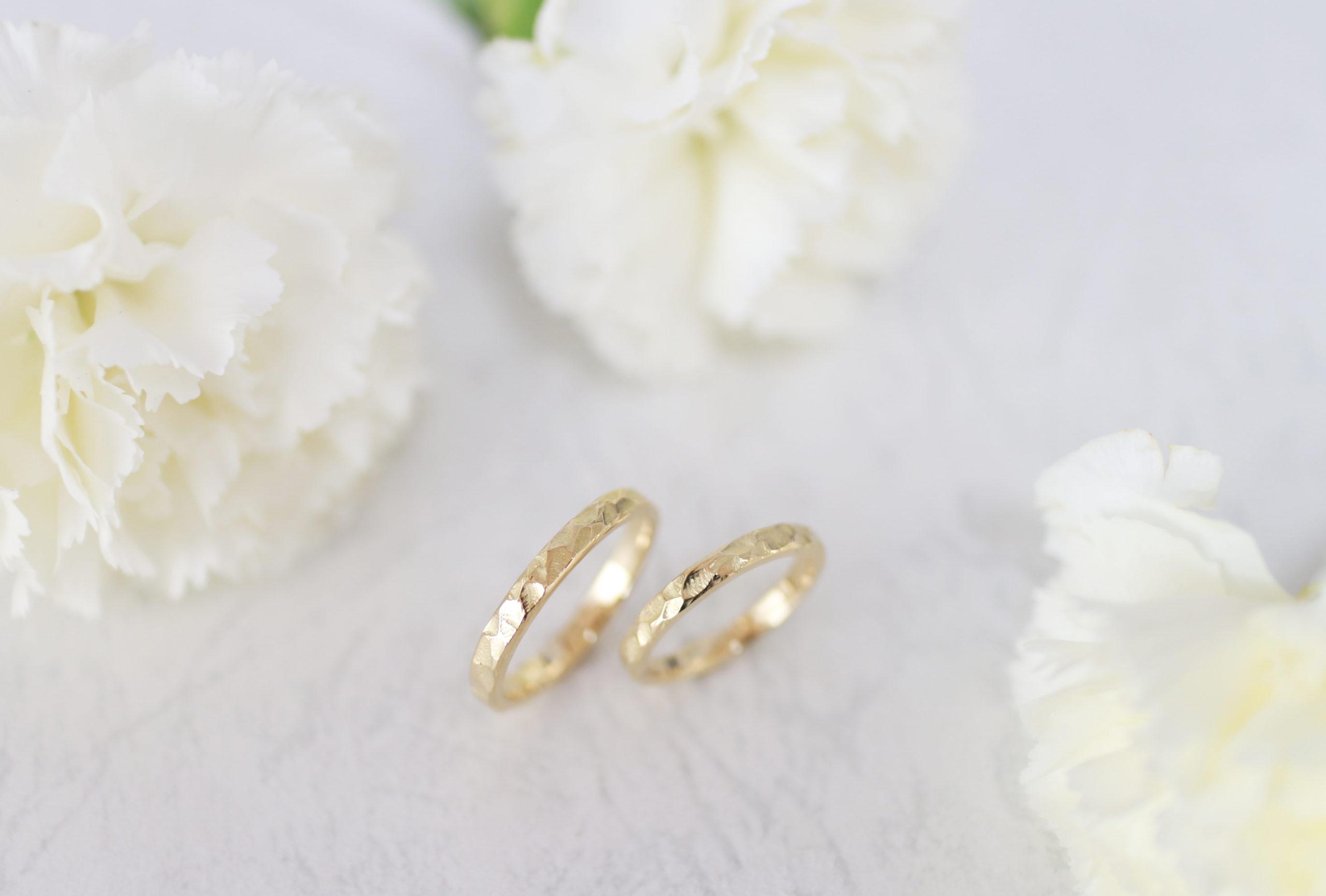 ワックスから手作りした結婚指輪