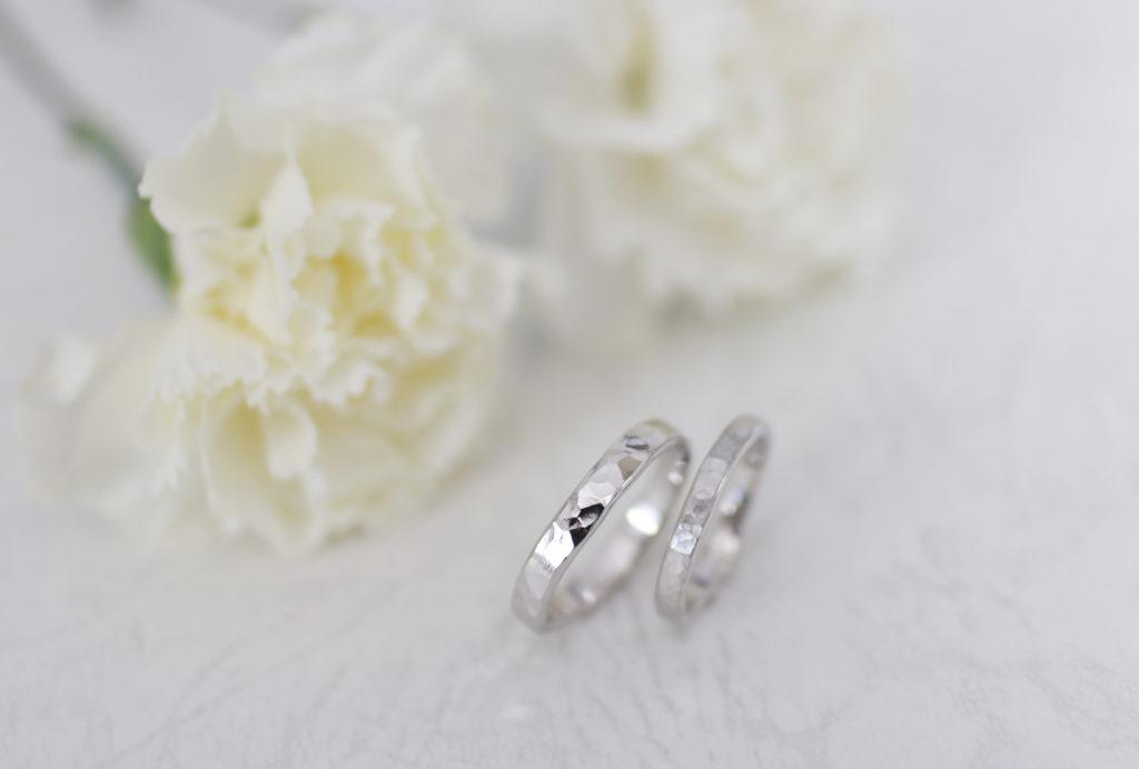 同じ作り方でも雰囲気が違う手作り結婚指輪