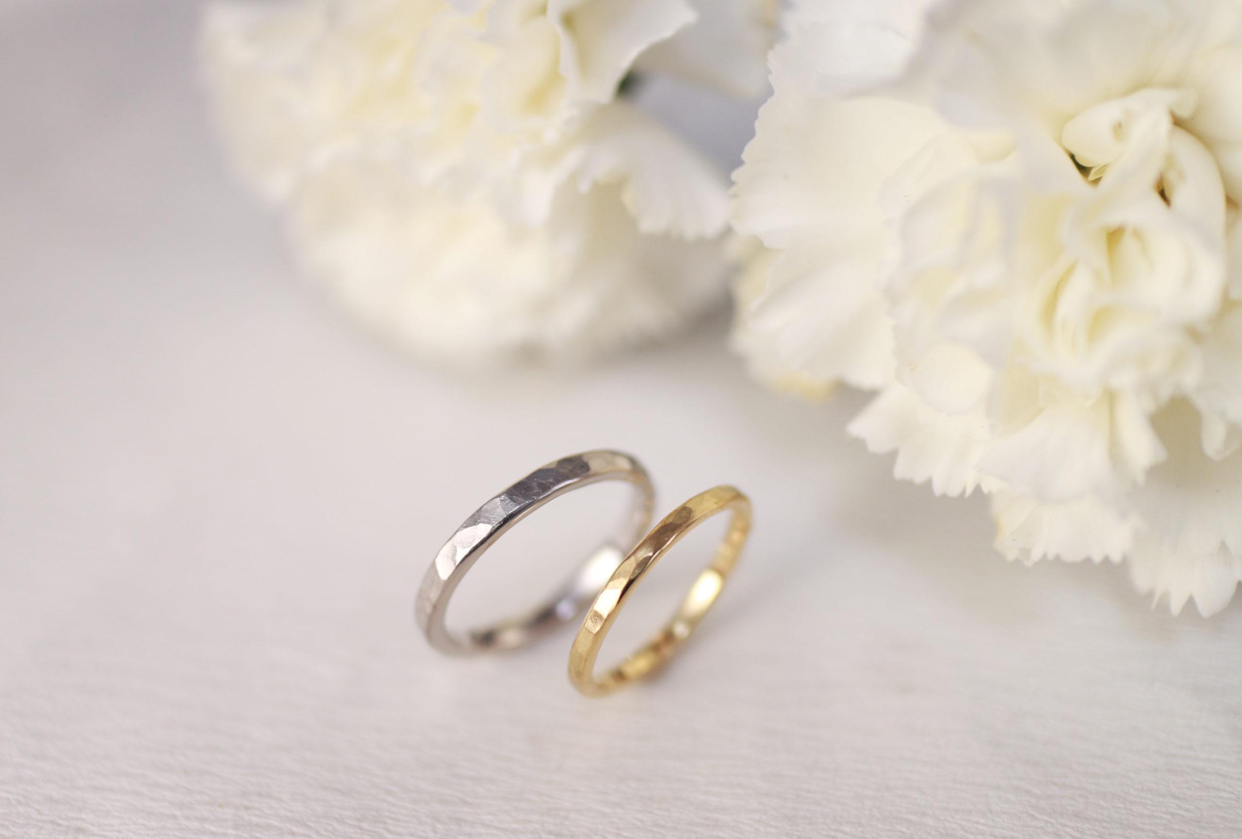 好みを確かめながら手作りした結婚指輪