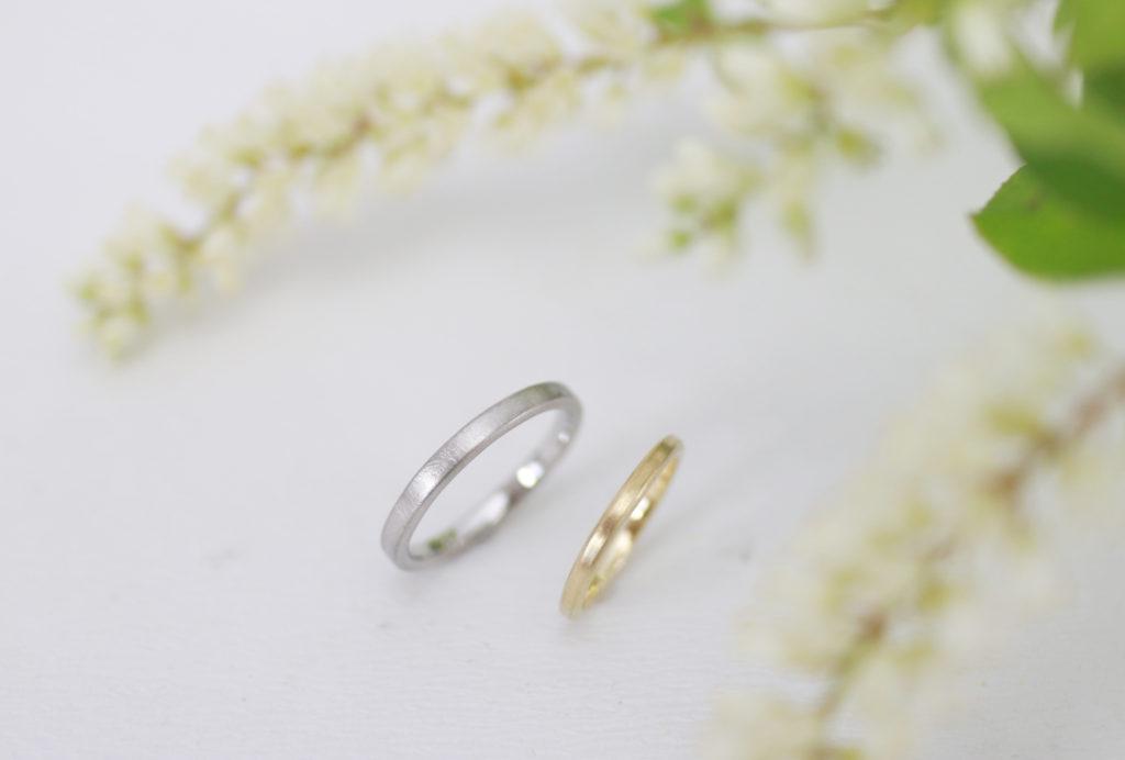 同じ道具を使って手作りしても雰囲気の違う結婚指輪が