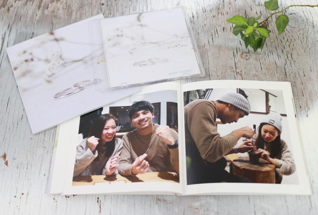 結婚指輪の制作風景を収めたフォトブック
