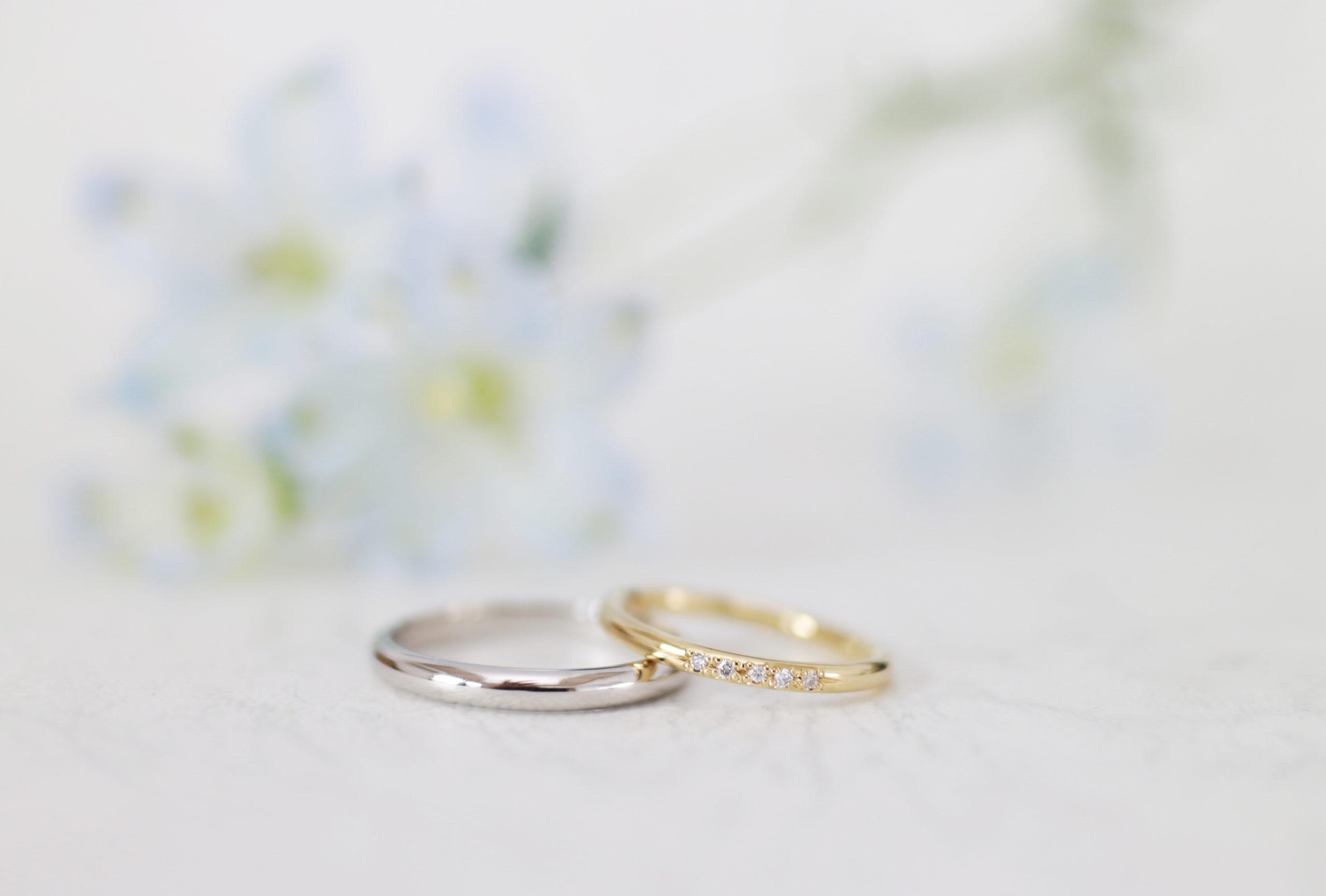 確かめながら磨いた結婚指輪