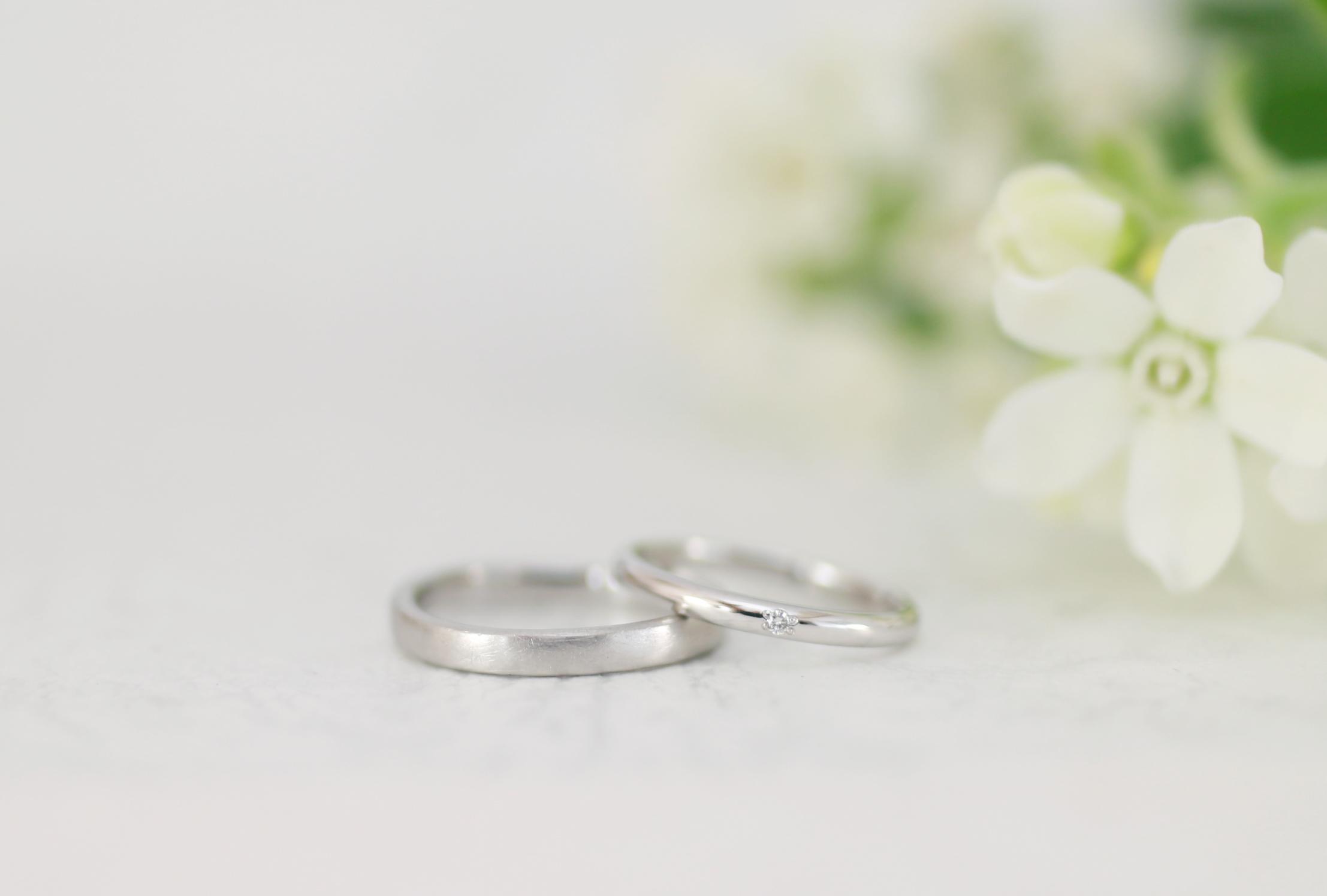 一生懸命磨いた結婚指輪