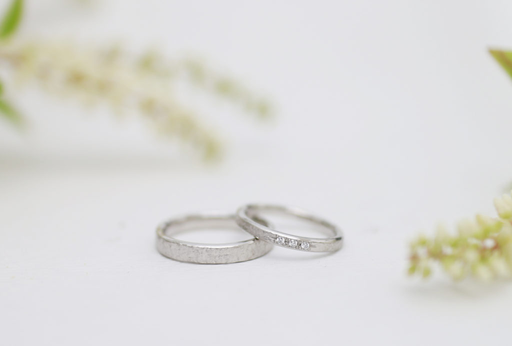 荒らした模様の手作り結婚指輪