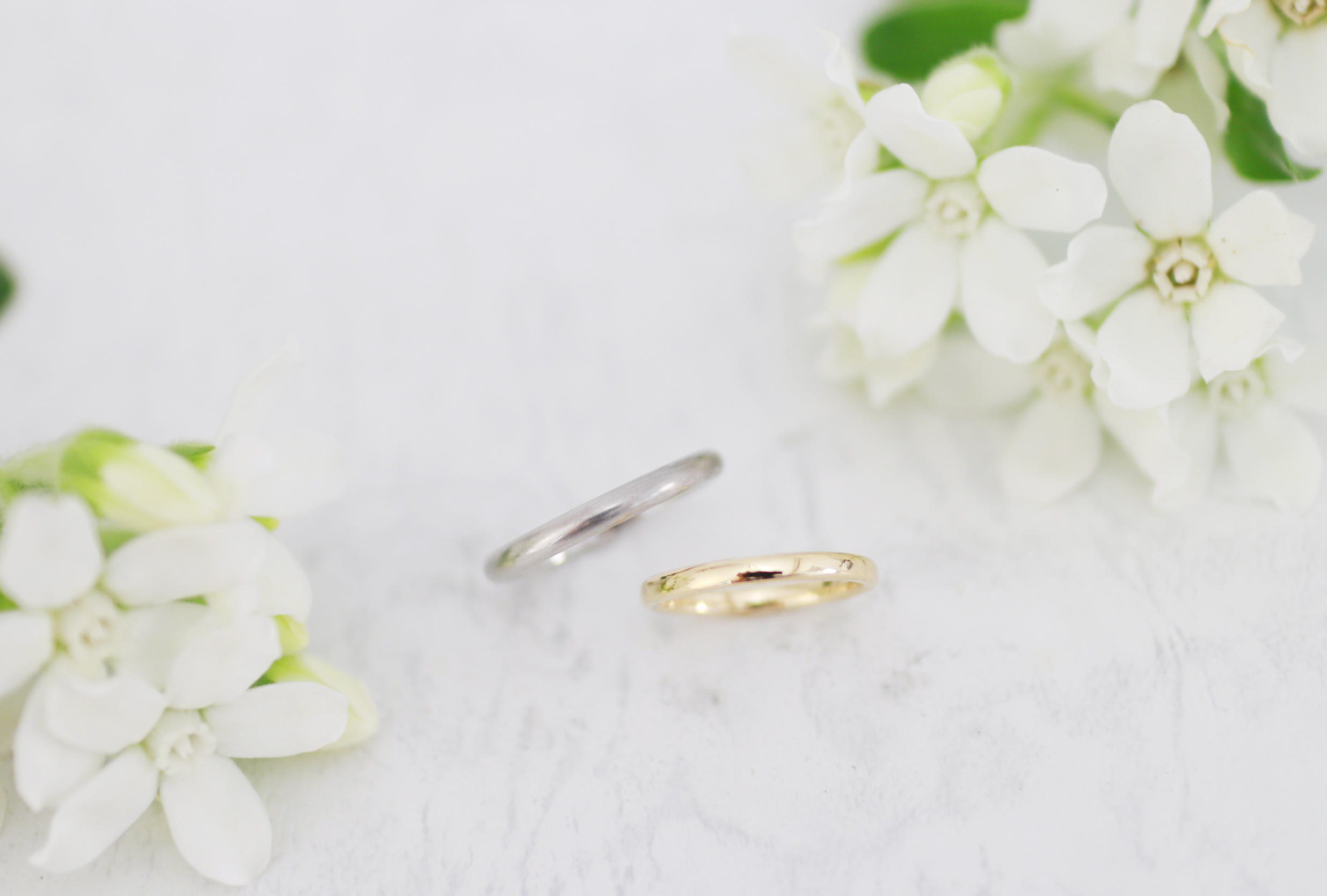 お互いに磨き合った結婚指輪