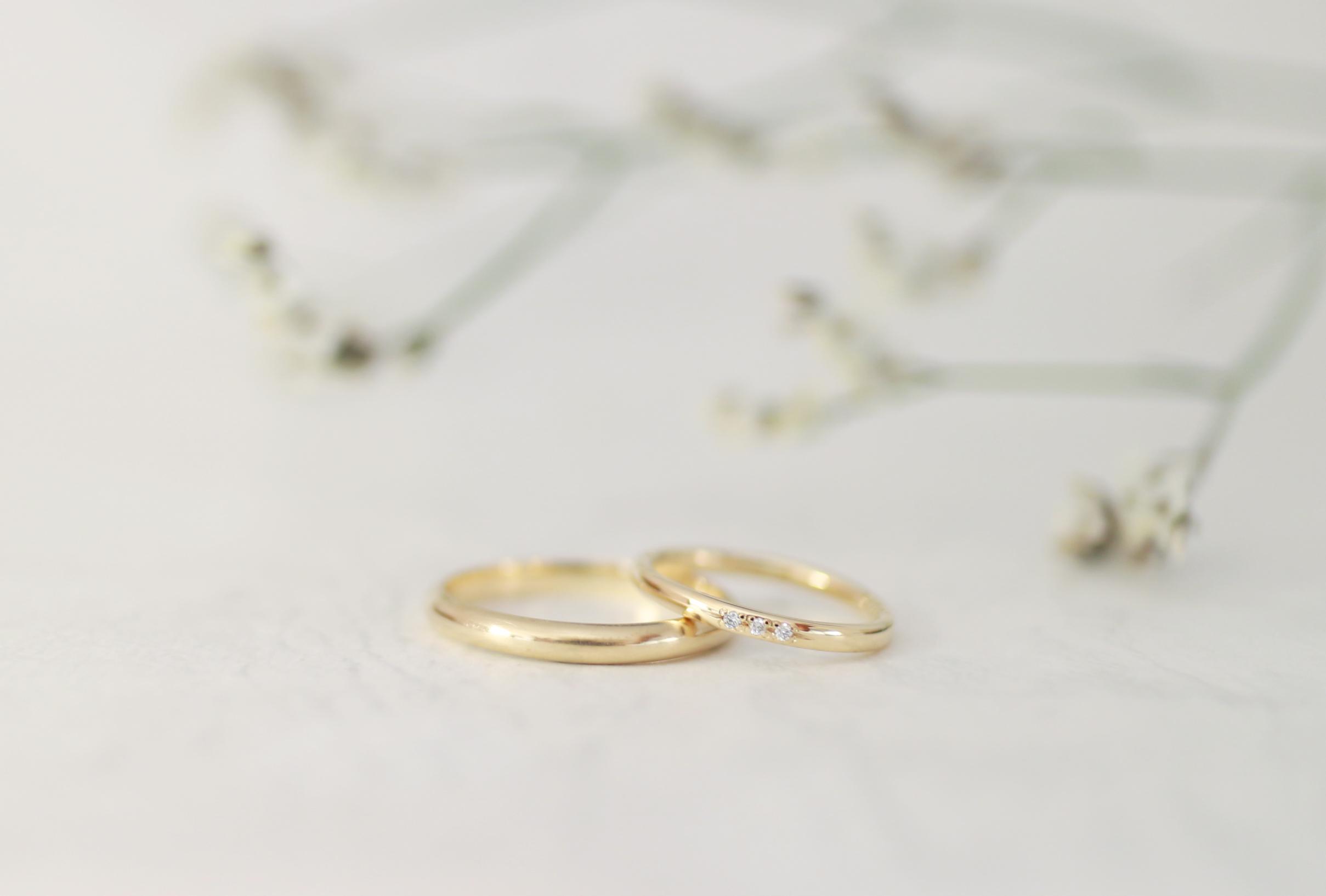 ふたりで作った一生ものの結婚指輪