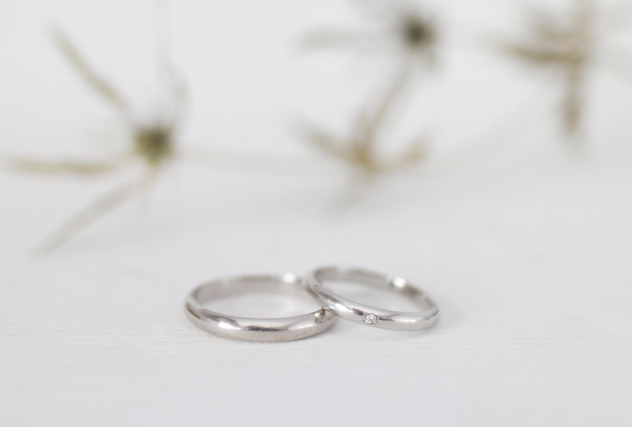 時間をかけて磨いた結婚指輪